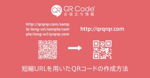 「短縮URLを用いたQRコードの作成方法」記事のアイキャッチ画像