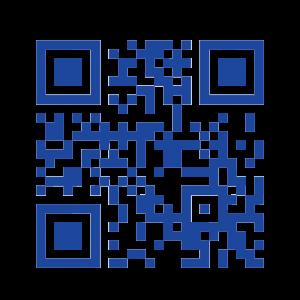 濃い青のQRコード