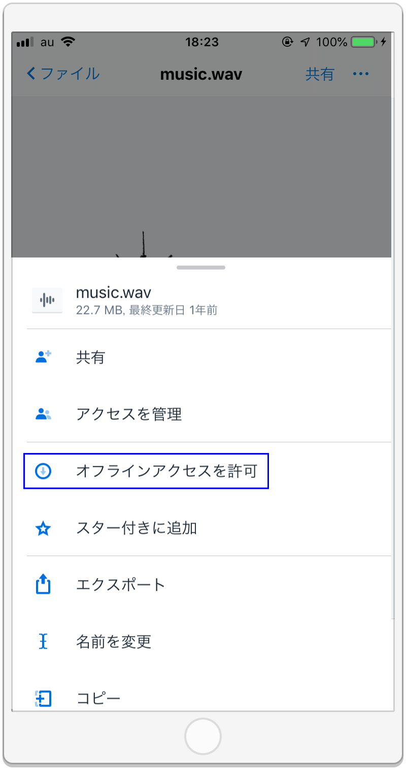 Dropboxを使いオフライン環境で音を再生する方法2